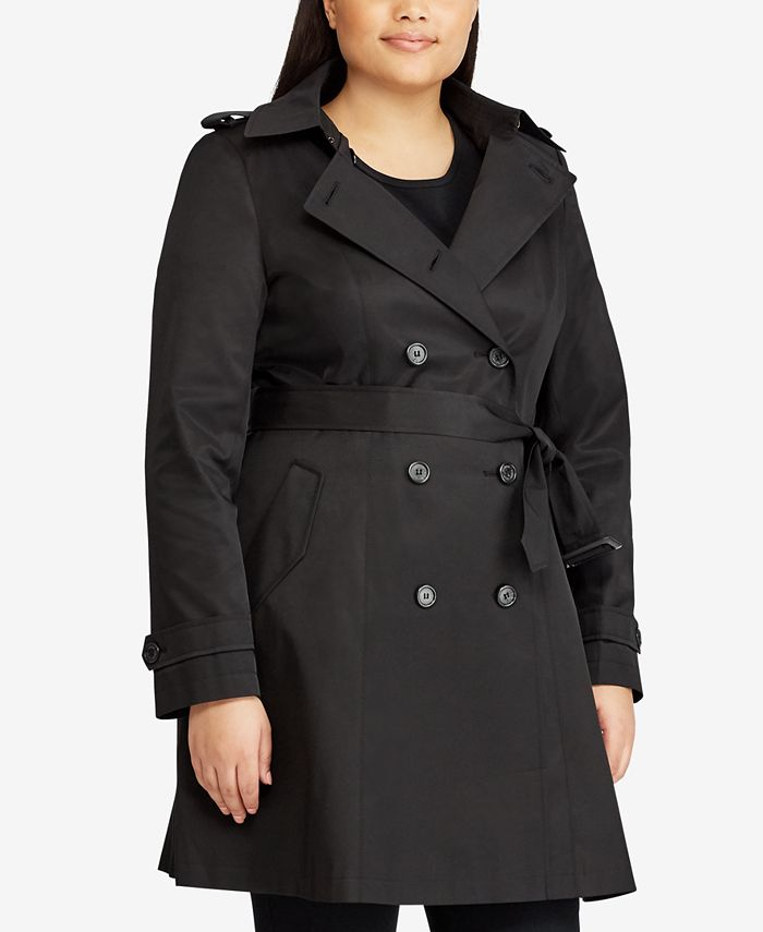 Lauren Ralph Lauren - Plus Size Double Breasted Trench Coat