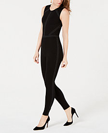 GUESS Adora Studded Sleeveless Jumpsuit