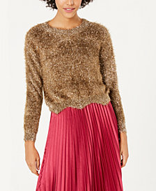 Lucy Paris Lola Metallic Eyelash Sweater