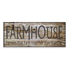 Farmhouse Wood, MDF Plaque