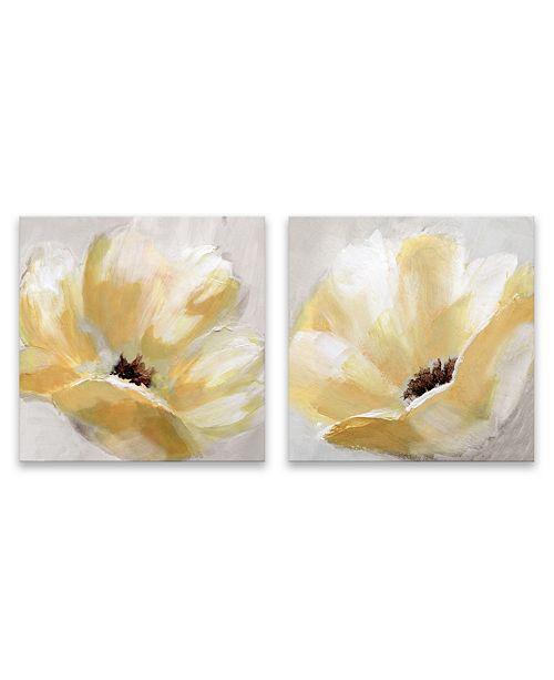 Artissimo Designs Soft Sunday Hand Embellished Canvas, Set of 2
