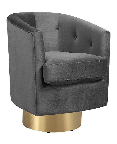 Aldi Swivel Accent Chair Review: Picket House Furnishings Carolina Button Tufted Swivel