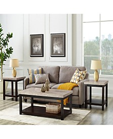 Caleb 3 Piece Occasional Table Set-Coffee Table and Two End Tables