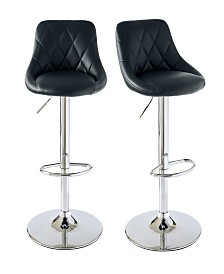 Baltimore Adjustable Swivel Bar Stool Set
