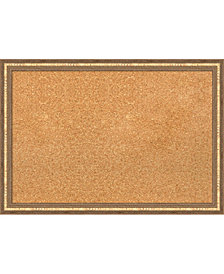 Amanti Art Fluted Champagne 26x18 Framed Cork Board
