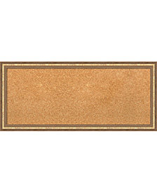 Amanti Art Fluted Champagne 32x14 Framed Cork Board