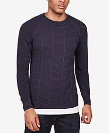 G-Star RAW Men's Slim-Fit Textured Moto Sweater