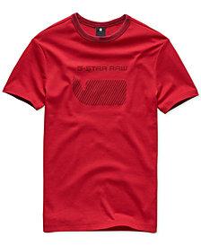 G-Star RAW Men's Oversized Stripe Logo T-Shirt