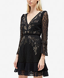 French Connection Bella Lace Floral-Embroidered Dress