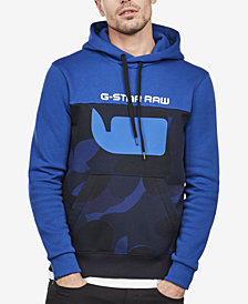 G-Star RAW Men's Colorblocked Camo Logo Hoodie
