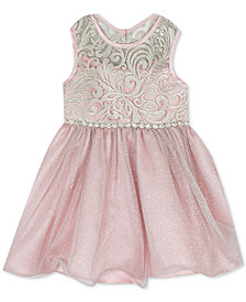 Rare Editions Baby Girls Wire-Hem Illusion Dress