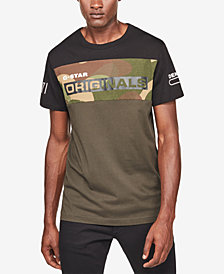G-Star RAW Men's Colorblocked Camo T-Shirt