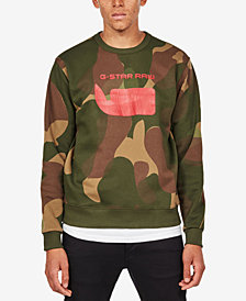 G-Star RAW Men's Camo Logo Sweatshirt