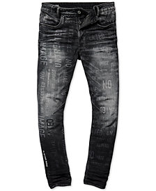 G-Star RAW Men's D-Staq Straight Tapered Fit Printed Jeans