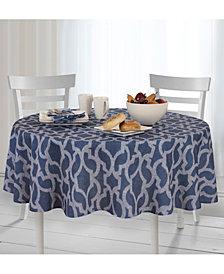 "Elrene Sydney Indoor/Outdoor 70"" Round Tablecloth"