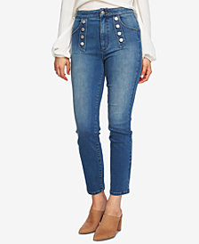 1.STATE Button Embellished Skinny Jeans