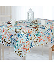 Elrene Coastal Settings Indoor/Outdoor Tablecloth Collection