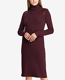 Lauren Ralph Lauren Quilted Turtleneck Dress