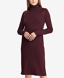 Lauren Ralph Lauren Quilted Turtleneck Dress
