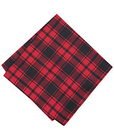 Bar III Men's Seabury Plaid Pocket Square, Created for Macy's