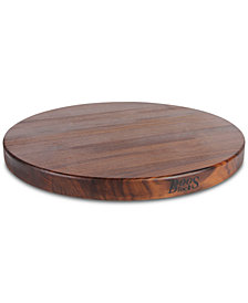 "John Boos Black Walnut Round Reversible 18"" Cutting Board"