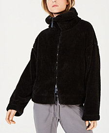 Free People Dazed Mock-Neck Zippered Sweater