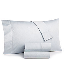 CLOSEOUT! Hotel Collection Herringbone 4-Pc. Queen Sheet Set, Created for Macy's