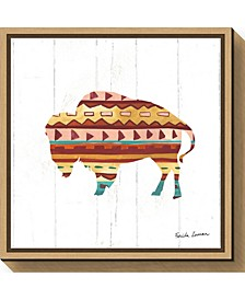 Southwestern Vibes II Buffalo by Farida Zaman Canvas Framed Art