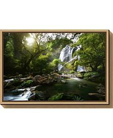 Amanti Art Mountain stream by Patrick Foto Canvas Framed Art