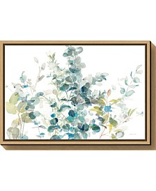 Amanti Art Eucalyptus I White Crop by Danhui Nai Canvas Framed Art