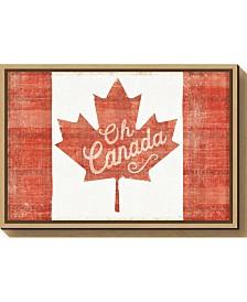 Amanti Art Oh Canada Flag by Sue Schlabach Canvas Framed Art