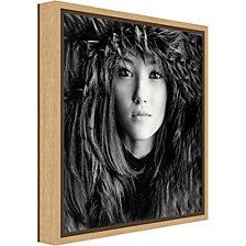 Amanti Art Wolf Girl by Oren Hayman Canvas Framed Art