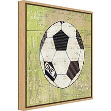Amanti Art Baseball Play Ball I Soccer by Courtney Prahl Canvas Framed Art