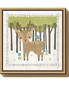 Woodland Hideaway Deer by Moira Hershey Canvas Framed Art