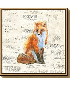 Amanti Art Into the Woods IV no Border Fox by Emily Adams Canvas Framed Art