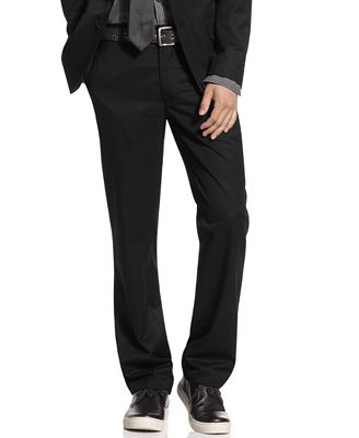 Kenneth Cole Reaction Pants, Slim Fit Dress Pants - Pants - Men