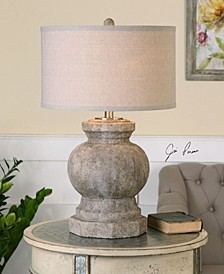 Verdello Antiqued Stone Table Lamp
