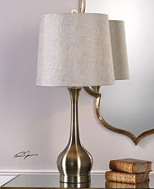 Uttermost Balle Antiqued Brass Table Lamp