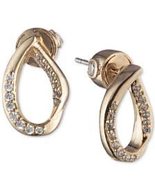 Carolee Gold-Tone Pavé Sculptural Stud Earrings