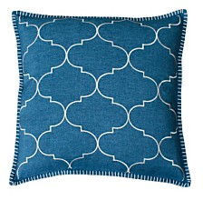 """Ava Whipstitch Embroidered Pillow, 18"""" x 18"""""""