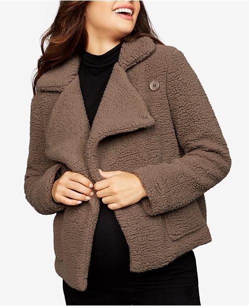 40cd08a379e19 BB Dakota Maternity Faux-Fur Jacket & Reviews - Maternity - Women ...