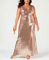 a821476b292 Nightway Plus Size Sequined Evening Gown