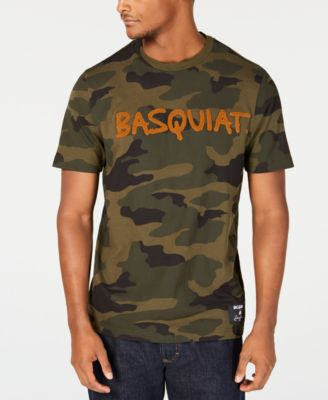 Men's Basquiat Signature Camouflage Graphic T-Shirt