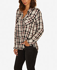 Sanctuary Boyfriend For Life Plaid Button-Up Shirt