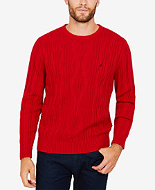 Nautica Men's Cable-Knit Sweater