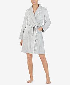 Lauren Ralph Lauren Textured Short Wrap Robe