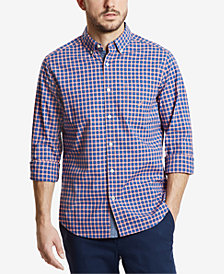 Nautica Men's Classic Grid Plaid Shirt
