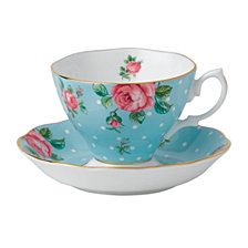 Royal Albert Polka Blue Cup and Saucer