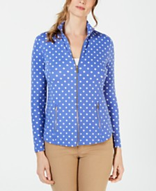 Charter Club Star-Print Zip-Up Jacket, Created for Macy's