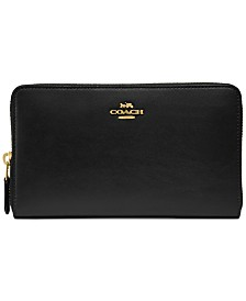 COACH Continental Wallet in Refined Leather